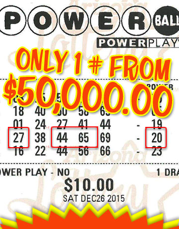 Another Powerball Winner in 2015
