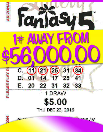 Another Fantasy 5 Winner in 2016