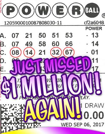 Almost WON a Million Bucks in Powerball