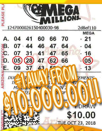 Another Mega Millions Winner in OCTOBER 2018